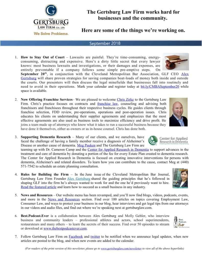 legal blog topics